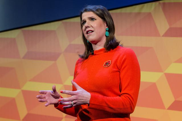 Jo Swinson has criticised a decision to leave her and other party leaders out of a BBC debate, saying the Liberal Democrats are being denied the opportunity to challenge Boris Johnson and Jeremy Corbyn on Brexit. (Picture: Wiktor Szymanowicz / Barcroft Media via Getty Images)