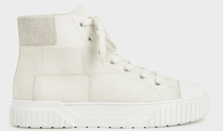 PHOTO: Charles & Keith. Woven Fabric High Top Sneakers