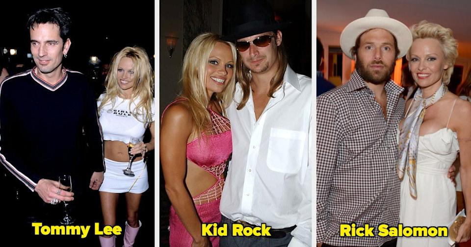 Pamela Anderson with Tommy Lee, Kid Rock, and Rick Salomon