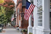 """<p>This handsome western Massachusetts town inspired Norman Rockwell's artwork ... and perhaps hundreds more families to settle down here. The town is simply magical during the <a href=""""https://stockbridgechamber.org/things-to-do/stockbridge-main-street-christmas/"""" rel=""""nofollow noopener"""" target=""""_blank"""" data-ylk=""""slk:holiday season"""" class=""""link rapid-noclick-resp"""">holiday season</a>, with old-fashioned decor trimming the streets.</p>"""