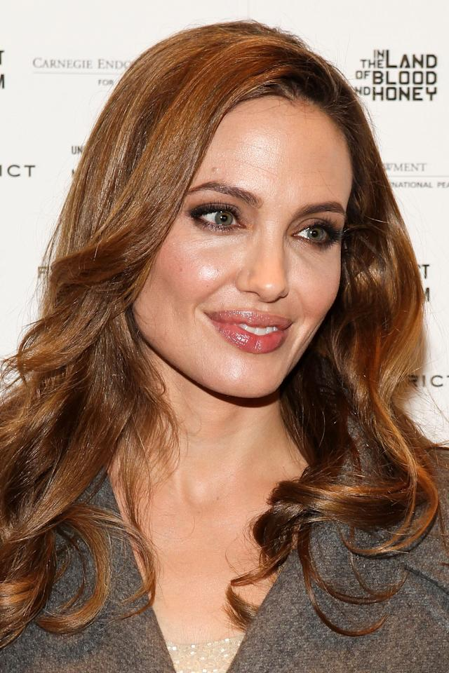 "WASHINGTON, DC - JANUARY 10:  Writer/director Angelina Jolie arrives at the ""In the Land of Blood and Honey"" premiere at the United States Holocaust Memorial Museum on January 10, 2012 in Washington, DC.  (Photo by Paul Morigi/WireImage)"