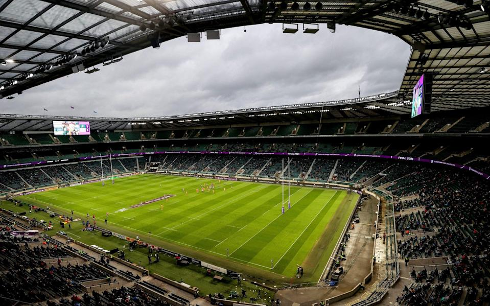 Twickenham looks set to host an anticlimatic end to the Premiership season - GETTY IMAGES