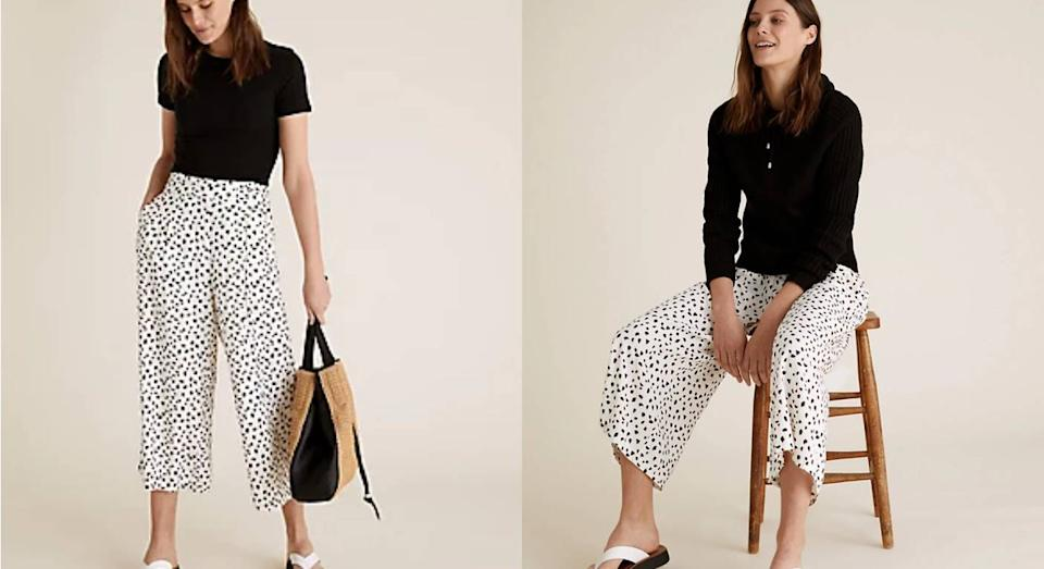 M&S has released a new pair of trendy culottes and they're selling fast. (Marks & Spencer)