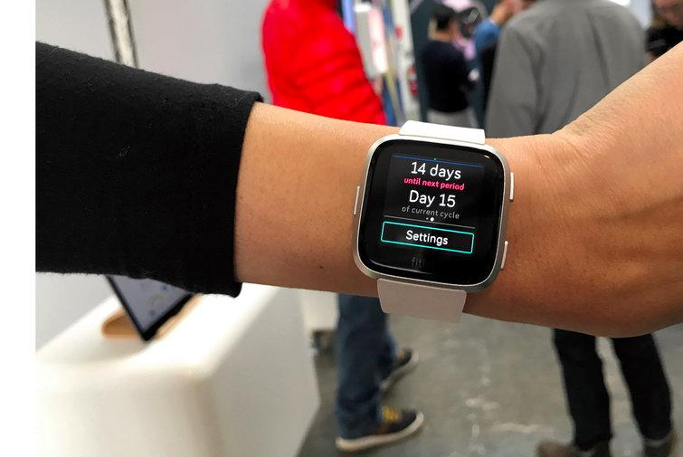 Fitbit will fold data about your cycle into the watch's Today app.