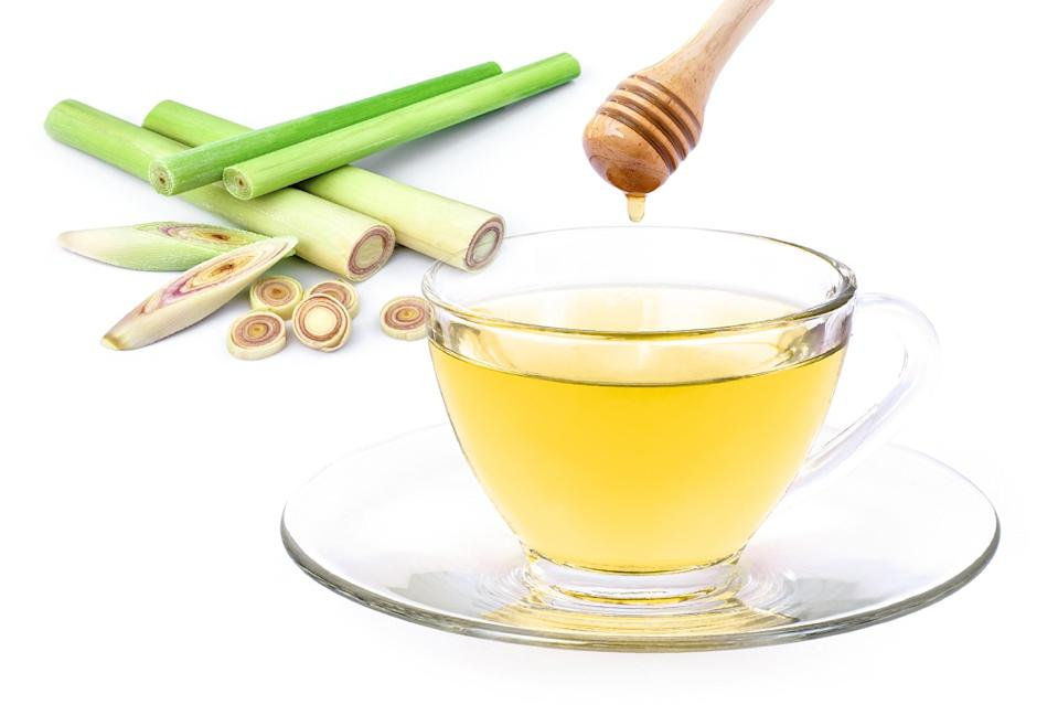 Fresh lemon grass and honey is used in Herbal Tea immunity shot