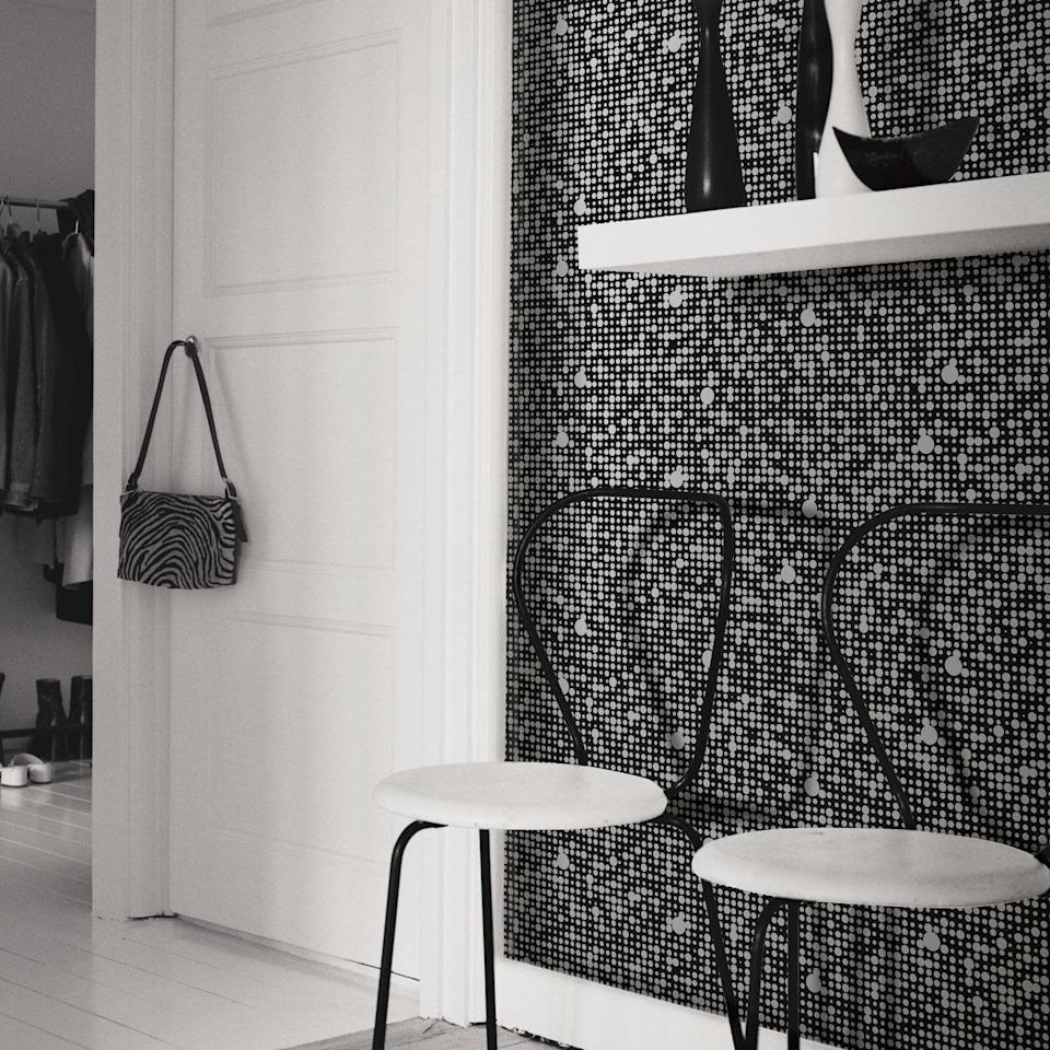 <p>This modern <span>RoomMates Black Polka Dot Peel and Stick Wallpaper</span> ($26, originally $35) will add dimension to any room.</p>