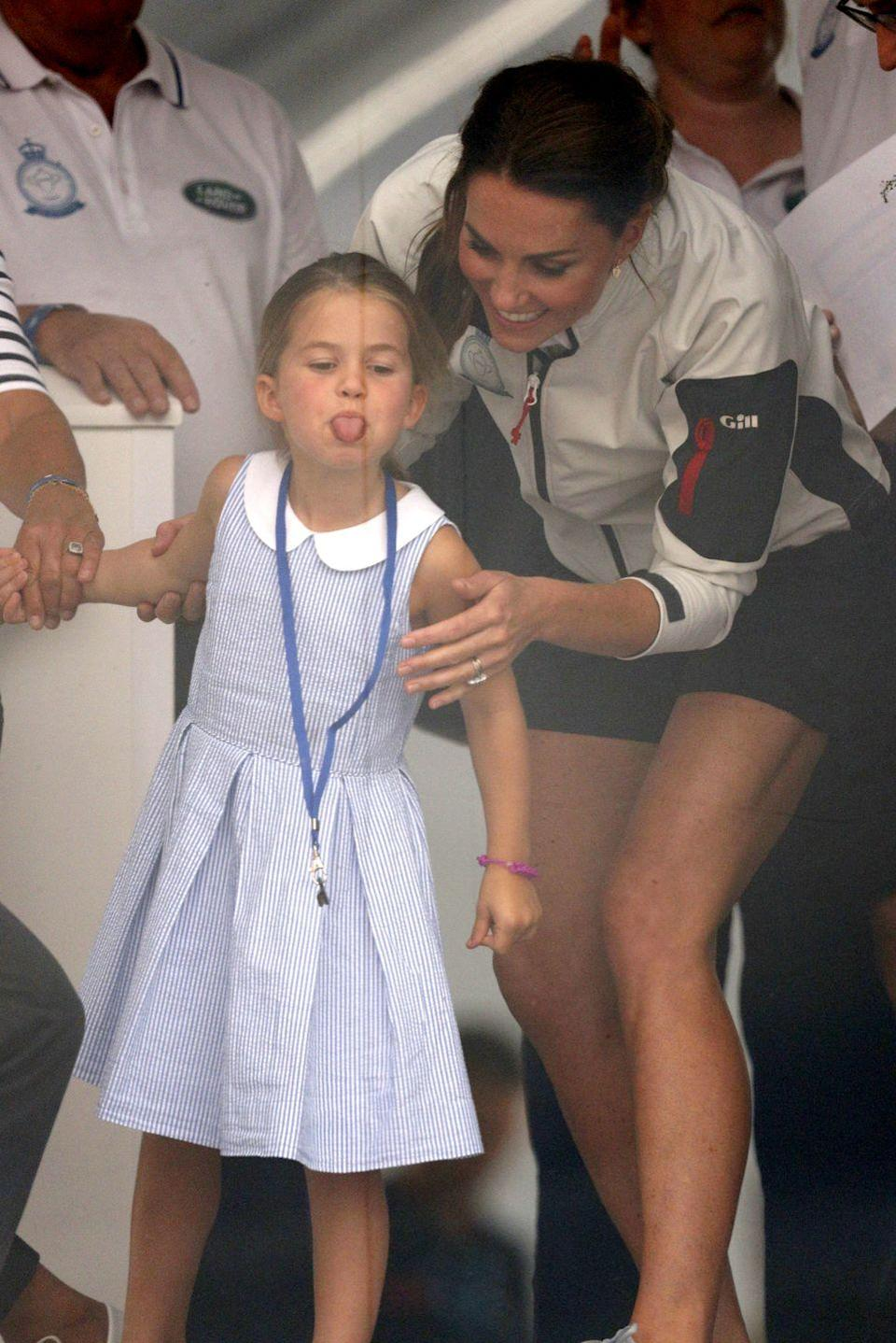 <p>Princess Charlotte, on the other hand, stuck out her tongue at the crowd!</p>