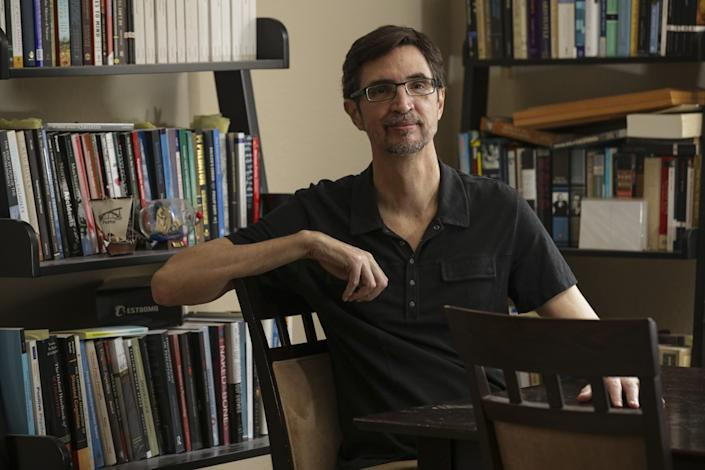 Dr. Danilo Chiappe, a Cal State Long Beach psychology professor shown at home, recalls being taunted over his name.