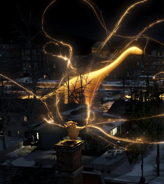 """In this undated publicity photo provided by Paramount Pictures, Sandman brings the most fantastic dreams to kids in DreamWorks Animation's """"Rise of the Guardians."""" The film, releasing by Paramount Pictures, is set to debut nationwide Nov. 21, 2012. (AP Photo/Paramount Pictures, Courtesy DreamWorks Animation)"""
