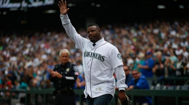 The Mariners unveiled their new statue depicting team icon Ken Griffey Jr. on Thursday outside Safeco Field, cementing Griffey's place in team history.