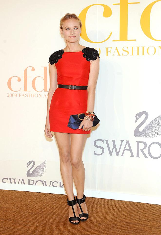 """Diane Kruger continued to dominate the red carpet in a modified Jason Wu mini. Jamie McCarthy/<a href=""""http://www.wireimage.com"""" target=""""new"""">WireImage.com</a> - June 15, 2009"""