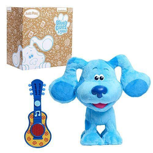 """<p><strong>Blue's Clues & You!</strong></p><p>amazon.com</p><p><strong>$44.44</strong></p><p><a href=""""https://www.amazon.com/dp/B084DWYWPD?tag=syn-yahoo-20&ascsubtag=%5Bartid%7C10070.g.34428616%5Bsrc%7Cyahoo-us"""" rel=""""nofollow noopener"""" target=""""_blank"""" data-ylk=""""slk:SHOP NOW"""" class=""""link rapid-noclick-resp"""">SHOP NOW</a></p><p>Young kids will love dancing and singing along to this musical <em>Blue's Clues </em>plush. The interactive stuffed animal dances to the <em>Blue's Clues</em> theme song by moving her ears, wiggling her bottom from side to side, and rolling her head and paws. She also voices classic catchphrases from the show that your kids will definitely recognize if they are avid fans of the show. <em>Ages 3+</em></p>"""
