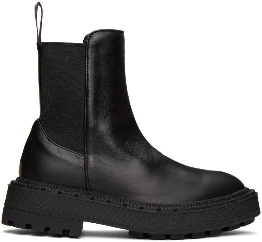 "<br><br><strong>EYTYS</strong> Black Rocco Boots, $, available at <a href=""https://go.skimresources.com/?id=30283X879131&url=https%3A%2F%2Fwww.ssense.com%2Fen-us%2Fwomen%2Fproduct%2Feytys%2Fblack-rocco-boots%2F5524311"" rel=""nofollow noopener"" target=""_blank"" data-ylk=""slk:SSENSE"" class=""link rapid-noclick-resp"">SSENSE</a>"