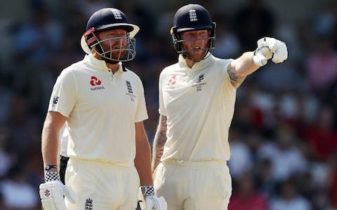 England's Ben Stokes and Jonny Bairstow at Headingley - Credit: Reuters