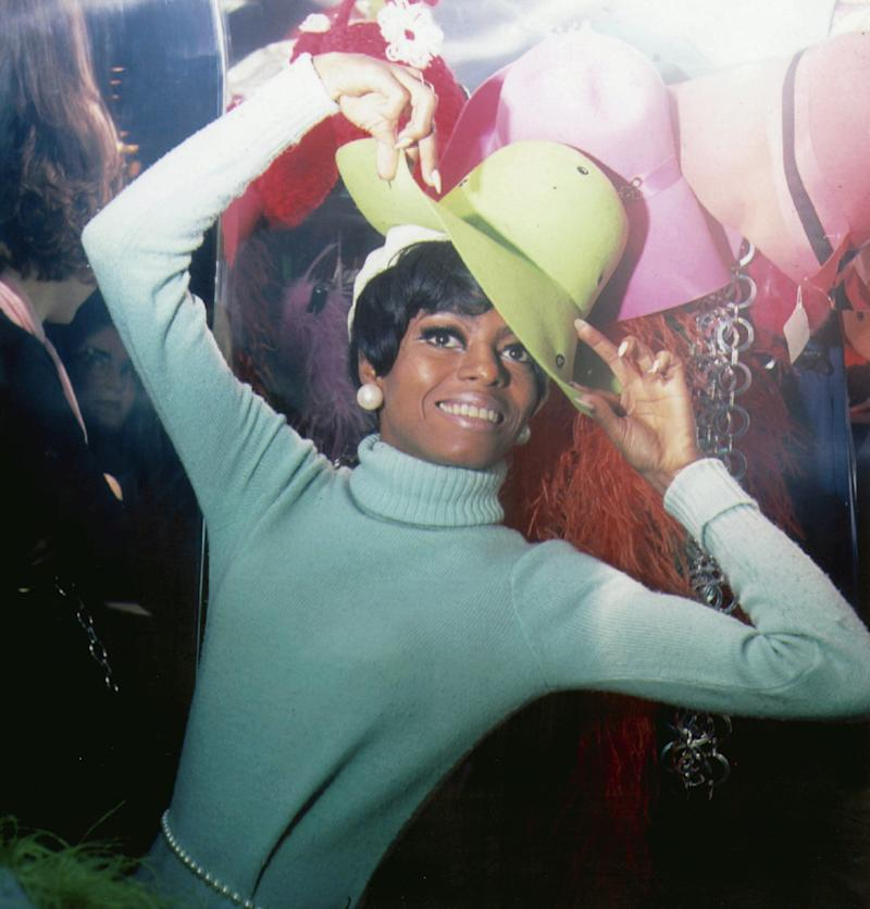 Ross wears a light turquoise turtleneck in this undated photo.