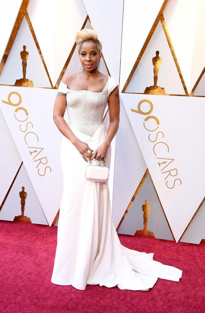 <p>Mary J. Blige attends the 90th Academy Awards in Hollywood, Calif., March 4, 2018. (Photo: Getty Images) </p>