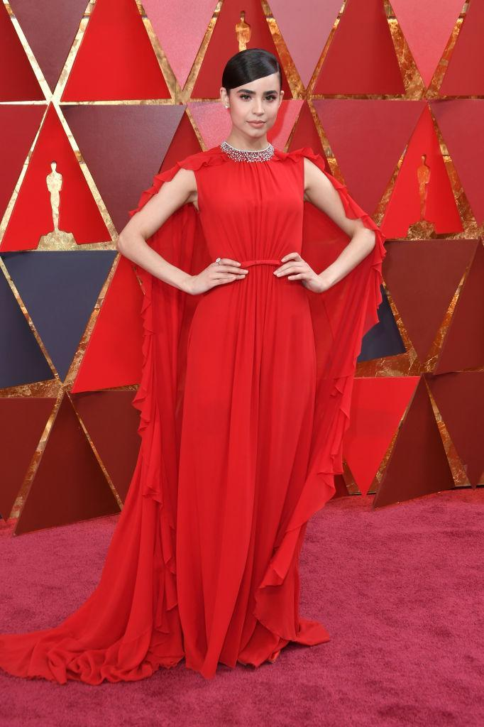 <p>Sofia Carson attends the 90th Academy Awards in Hollywood, Calif., March 4, 2018. (Photo: Getty Images) </p>