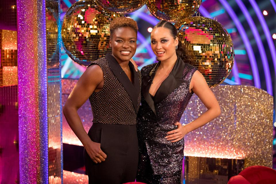 Nicola Adams and Katya Jones had to withdraw from the competition. (BBC - Photographer: Guy Levy)