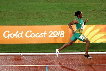 Caster Semenya of South Africa in action. REUTERS/Jeremy Lee
