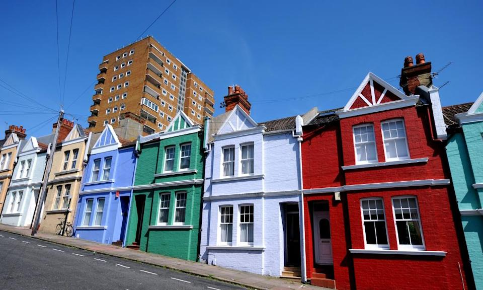 Houses in an East Sussex street
