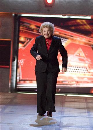 Johnnie Mae Young, a pioneering female wrestler and World Wrestling Entertainment Hall of Fame member, is pictured in this World Wrestling Entertainment, Inc. photo released to Reuters on January 15, 2014. REUTERS/WWE/Handout
