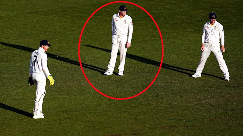 Tim Paine, Steve Smith and David Warner, pictured here in the slips during the Ashes.