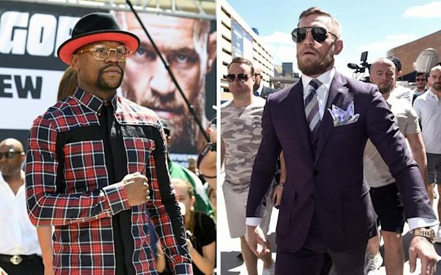 Floyd Mayweather and Conor McGregor will both take to the scales on Friday - Getty Images