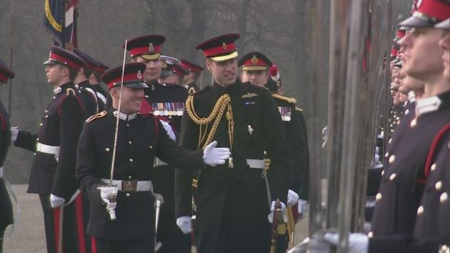 The Duke of Cambridge has represented the  Queen for the Sovereign's Parade at the Royal Military Academy at Sandhurst.