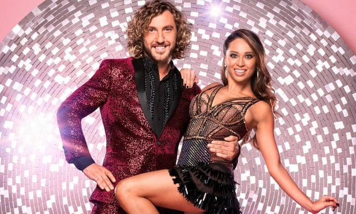 Seann Walsh and Katya Jones were embroiled in controversy during their time on 'Strictly Come Dancing' in 2018. (Credit: BBC)