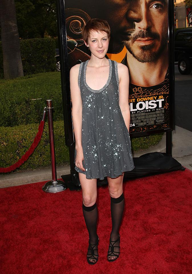 """<a href=""""http://movies.yahoo.com/movie/contributor/1800019377"""">Jena Malone</a> at the Los Angeles premiere of <a href=""""http://movies.yahoo.com/movie/1809986571/info"""">The Soloist</a> - 04/20/2009"""