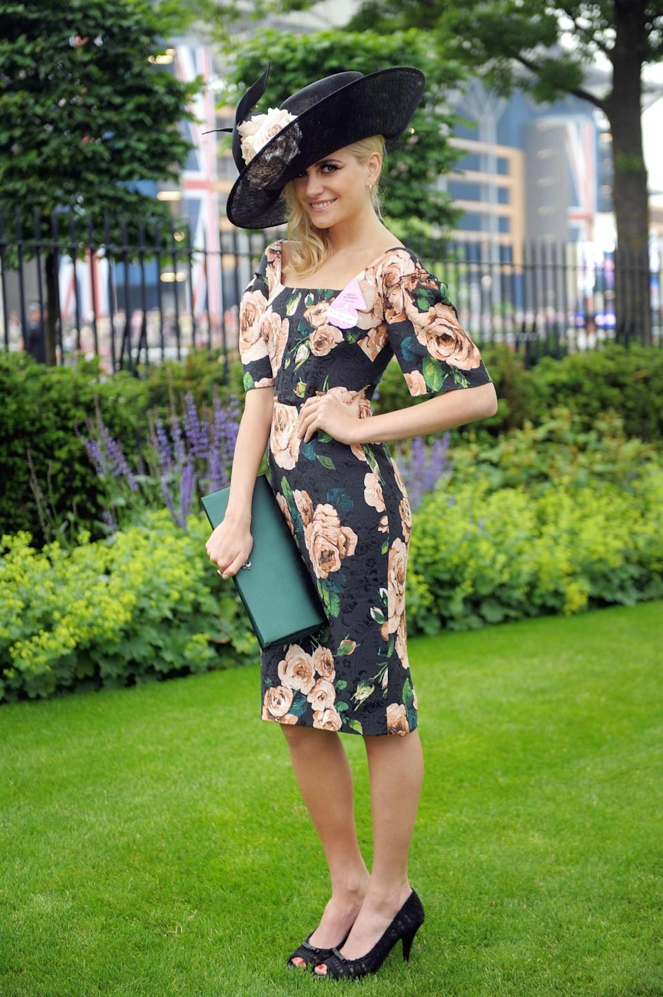 <p>Pixie donned a floral Dolce & Gabbana number in 2013.<br><i>[Photo: PA]</i> </p>