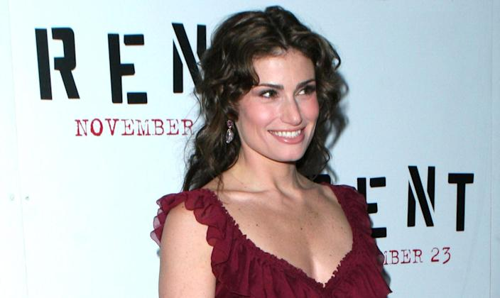 Idina Menzel at the Ziegfeld Theater in New York City for the