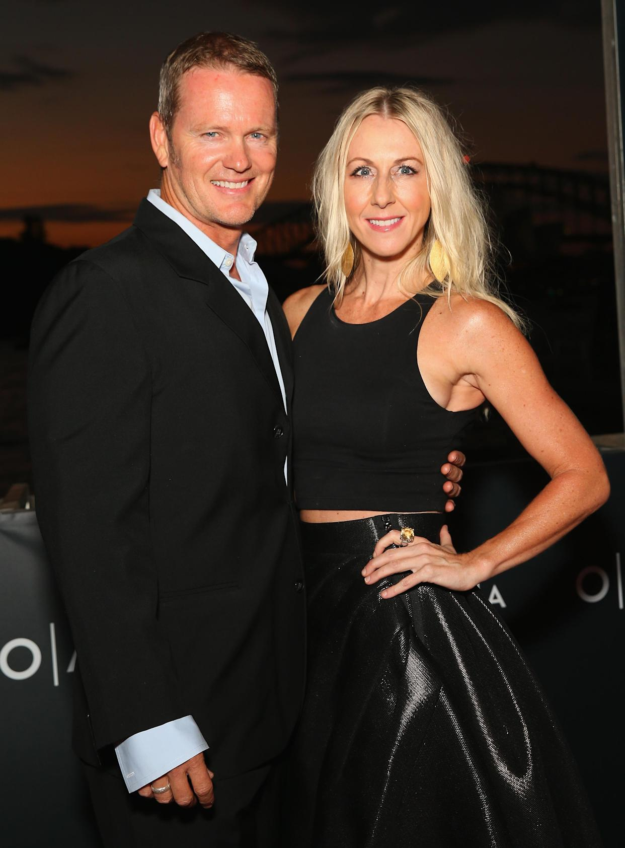 SYDNEY, AUSTRALIA - MARCH 24:  Craig McLachlan and Vanessa Scammell arrive ahead of opening night of Handa Opera's Turandot on March 24, 2016 in Sydney, Australia.  (Photo by Don Arnold/WireImage)