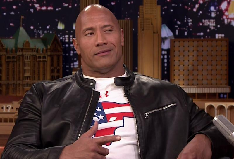 Dwayne Johnson on NBC's 'The Tonight Show Starring Jimmy Fallon' in December 2016 (Credit: supplied by WENN.com)