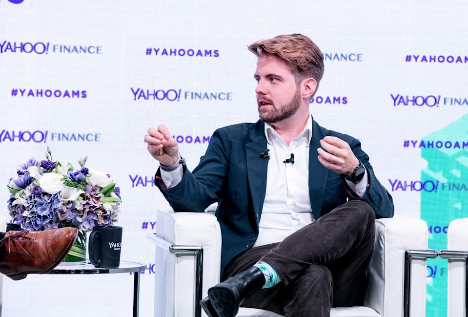 Blockchain CEO Peter Smith at Yahoo Finance's All Markets Summit: Crypto on Feb. 7, 2018 (Gino DePinto/Oath)
