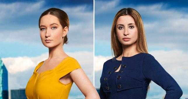 The Apprentice contestant Lottie Lion is accused of making a racist remark directed at Lubna Farhan (Credit: PA/BBC)