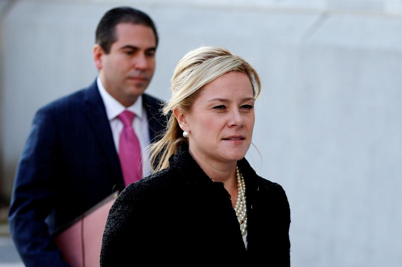 FILE PHOTO: Bridget Anne Kelly, former deputy chief of staff to New Jersey Governor Chris Christie, arrives for her sentencing in the Bridgegate trial at the Federal Courthouse in Newark, New Jersey
