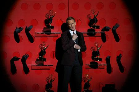 Host Neil Patrick Harris performs a musical number at the 65th Primetime Emmy Awards in Los Angeles