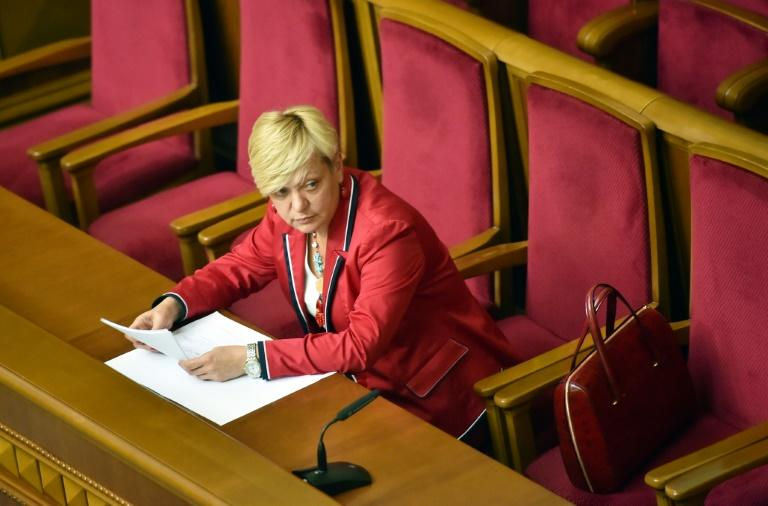 Gontareva had accused a prominent oligarch of embezzling a bank (AFP Photo/SERGEI SUPINSKY)