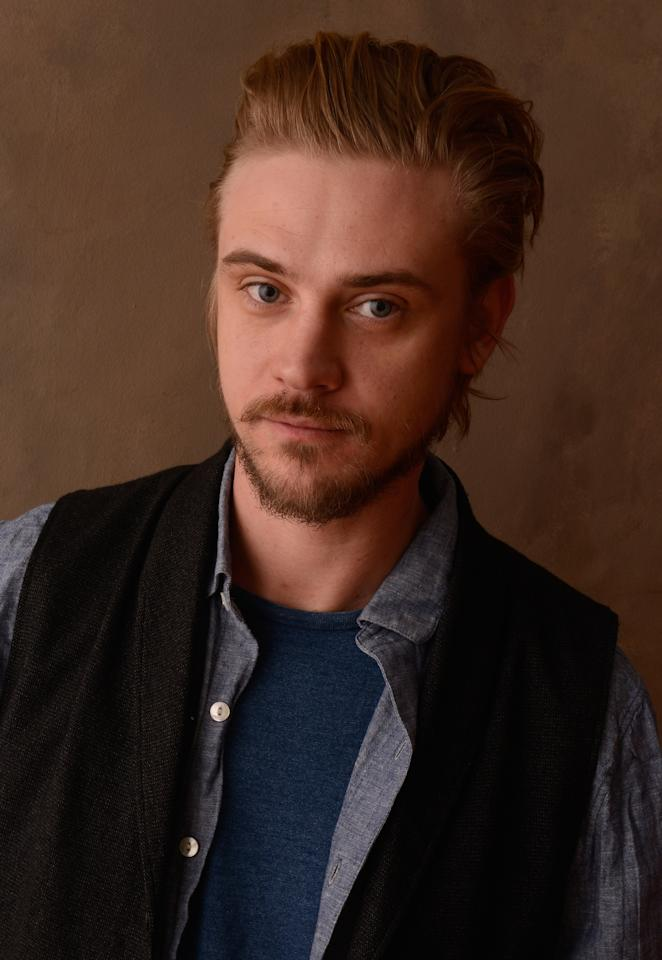 PARK CITY, UT - JANUARY 23:  Actor Boyd Holbrook poses for a portrait during the 2013 Sundance Film Festival at the Getty Images Portrait Studio at Village At The Lift on January 23, 2013 in Park City, Utah.  (Photo by Larry Busacca/Getty Images)