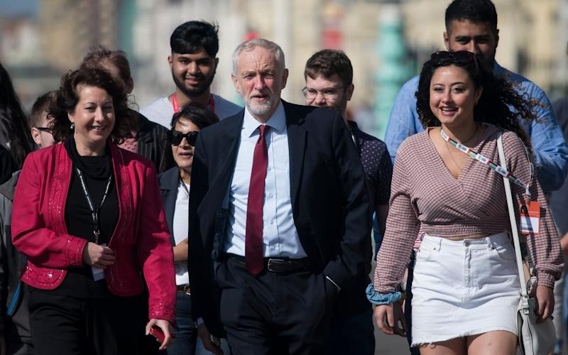 Jeremy Corbyn MP arrives on the first day of the Labour Party Conference 2019 in Brighton - Christopher Pledger