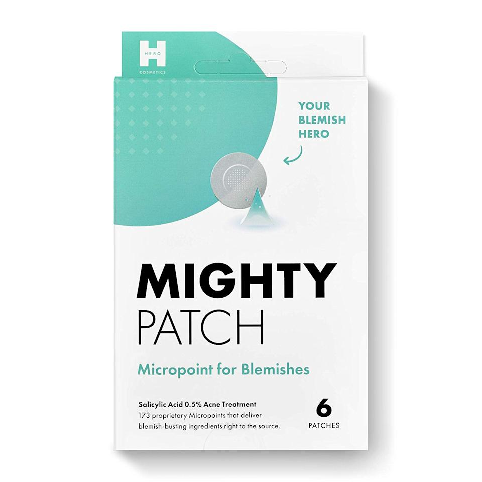 """Stress breakouts are real, and these hydrocolloid patches are a true, well, hero, when my skin decides to join me in that chaotic, <em>what-is-actually-happening-right-now</em> vibe. This one is a new launch from the award-winning pimple-patch brand, and has more than 100 micropoints that deliver acne-fighting actives to bring deep-rooted blemishes to a head. These are obviously good to use during social distancing, but Hero also has an <a href=""""https://amzn.to/2xKhniX"""" target=""""_blank"""">invisible patch</a> for when you actually need to leave the house. <em>—Erin Parker, commerce writer</em> $13, Amazon. <a href=""""https://www.amazon.com/Mighty-Patch-Micropoint-Blemishes-Hydrocolloid/dp/B084CVZH4W/"""">Get it now!</a>"""