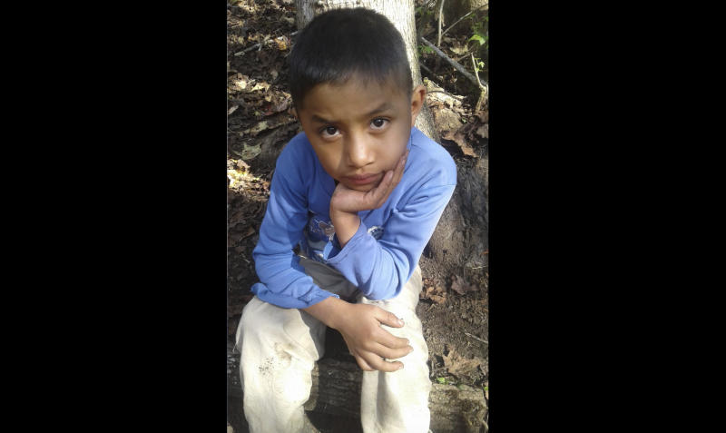 <p> This Dec, 12, 2018 photo provided by Catarina Gomez on Thursday, Dec. 27, 2018, shows her half-brother Felipe Gomez Alonzo, 8, near her home in Yalambojoch, Guatemala. The 8-year-old boy died in U.S. custody at a New Mexico hospital on Christmas Eve after suffering a cough, vomiting and fever, authorities said. The cause is under investigation. (Catarina Gomez via AP) </p>