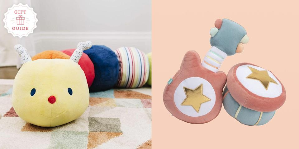 """<p>It's hard to find toys for 1-year-olds. Kids in this age group are not infants, and just barely toddlers. They're starting to grow out of <a href=""""https://www.goodhousekeeping.com/holidays/christmas-ideas/g23610311/baby-gifts/"""" rel=""""nofollow noopener"""" target=""""_blank"""" data-ylk=""""slk:baby toys"""" class=""""link rapid-noclick-resp"""">baby toys</a>, which have to do little to impress but crinkle, rattle and offer a soft part to chew. Now, 1-year-olds want a little more stimulation. But most toys that have interesting parts also pose possible choking hazards, which relegates them to kids older than 3. On top of that, some toys can offer dicey marketing claims: Promises about promoting better development or being made from better, less toxic materials. </p><p>That makes finding the best toys for this age group a particular challenge. We tapped veteran parents and toy testing experts at the <a href=""""http://www.goodhousekeeping.com/institute/about-the-institute/"""" rel=""""nofollow noopener"""" target=""""_blank"""" data-ylk=""""slk:Good Housekeeping Institute"""" class=""""link rapid-noclick-resp"""">Good Housekeeping Institute</a> to weigh in with their favorite toys for 12-month-olds. These picks hold up to the less-than-gentle treatment they get from their charges, won't drive parents crazy and — most important of all — are new-toddler-approved. So next time you're invited to a <a href=""""https://www.goodhousekeeping.com/life/parenting/g25439525/first-birthday-party-ideas/"""" rel=""""nofollow noopener"""" target=""""_blank"""" data-ylk=""""slk:1-year-old birthday party"""" class=""""link rapid-noclick-resp"""">1-year-old birthday party</a>, a first Christmas, or another present-giving occasion, check this list of gifts for 1-year-olds and feel confident in your choices.<br> <br>Read on for the <strong>best toys and gifts for 1-year-olds</strong> in 2021 — but don't forget to check out <a href=""""https://www.goodhousekeeping.com/holidays/gift-ideas/g203/gifts-for-kids/"""" rel=""""nofollow noopener"""" target=""""_blank"""" data-ylk=""""slk:Good Ho"""