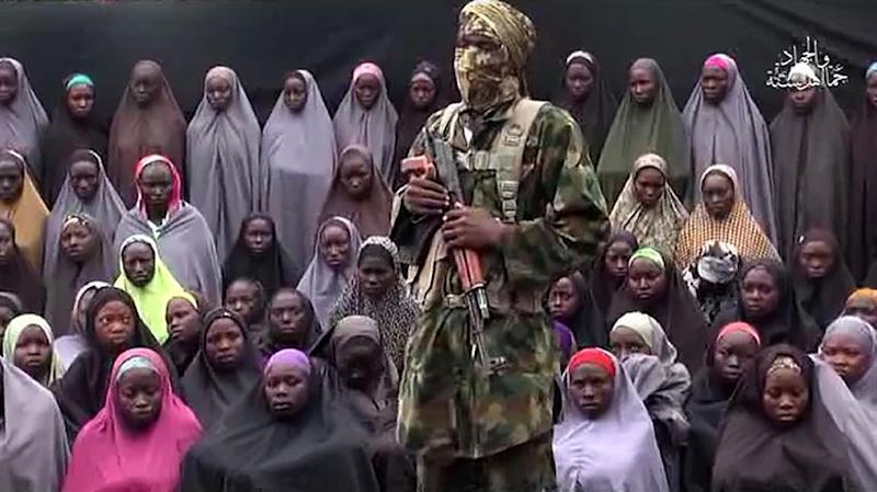 The Nigerian government said in September it was committed to rescuing the 218 Chibok girls still held captive by Boko Haram (AFP Photo/)