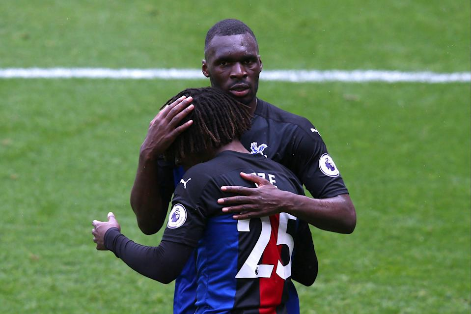 <p>Benteke and Eze led the Eagles to safety</p> (POOL/AFP via Getty Images)