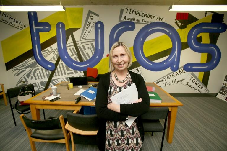 Vocalist, and director of the Turas programme, Linda Ervine in her office in Belfast