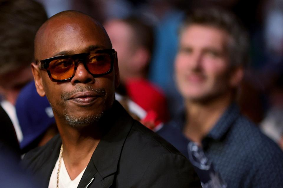 LAS VEGAS, NEVADA - JULY 10: Dave Chappelle looks on during UFC 264: Poirier v McGregor 3 at T-Mobile Arena on July 10, 2021 in Las Vegas, Nevada. (Photo by Stacy Revere/Getty Images)