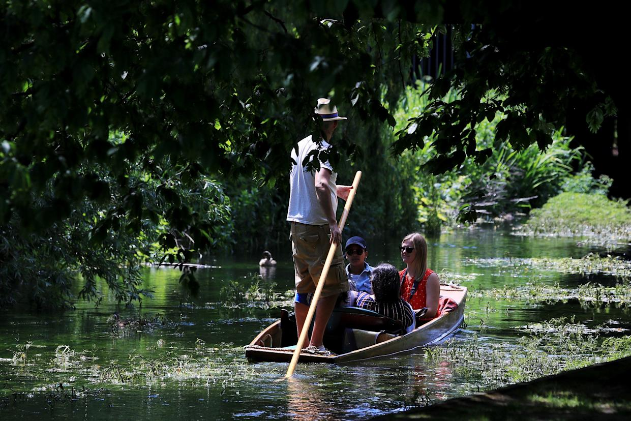 Tourists punting in Canterbury, Kent (Photo by Gareth Fuller/PA Images via Getty Images)
