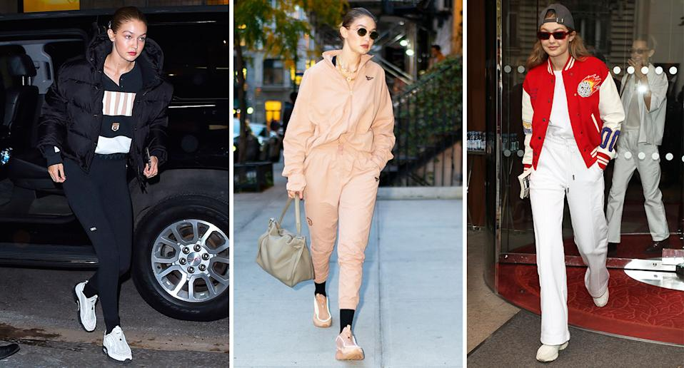 Gigi Hadid is a fan of dressing down while out and about. [Photo: Getty]